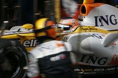 2008 f1纳尔逊piquet renault 库存照片