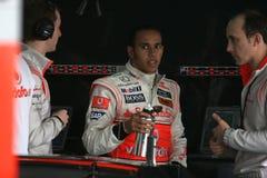 2008 f1 Hamilton Lewis mclaren Zdjęcie Royalty Free