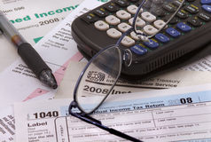 2008 Federal income tax forms Royalty Free Stock Images