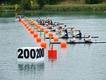 2008 Flatwater European Champi Royalty Free Stock Photography