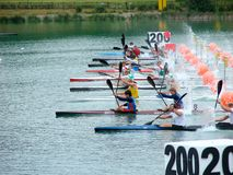 2008 Flatwater European Championships Royalty Free Stock Photo