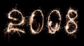 2008 fuochi d'artificio celebratori Immagini Stock Libere da Diritti