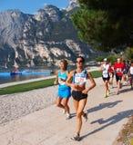 2008年garda湖马拉松 免版税库存照片
