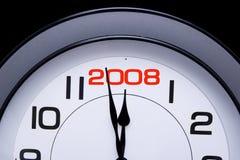 2008 här nya år Arkivbilder