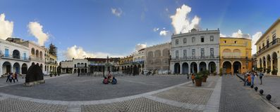 2008 Havana Listopad placu vieja Zdjęcie Stock
