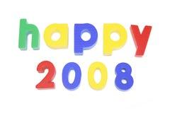 2008 heureux Photo stock