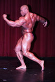 2008 Ironman Winner Phil Heath Side. Phil Heath massive side and bicep pose Stock Photos