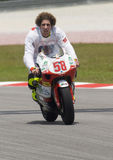 2008 Italian Marco Simoncelli of Metis Gilera Royalty Free Stock Photo