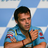 2008 italiano Loris Capirossi Imagem de Stock Royalty Free