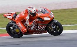 2008 italiano Marco Melandri de Ducati Marlboro Fotografia de Stock