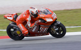 2008 Italiener Marco Melandri von Ducati Marlboro Stockfotografie