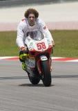 2008 Italiener Marco Simoncelli von Metis Gilera Lizenzfreies Stockfoto
