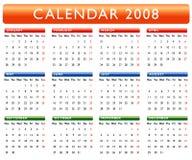 2008 kalendarz Obraz Royalty Free