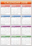 2008 kalendarz Obrazy Stock