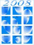 2008 kalendarz Ilustracja Wektor