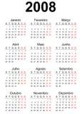 2008 kalendarz Fotografia Stock