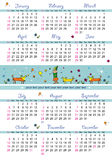 2008 kids calendar stock illustration