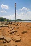 2008 lanier lake niskich poziomów wody Obrazy Stock