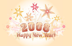 2008 lyckliga nya år stock illustrationer