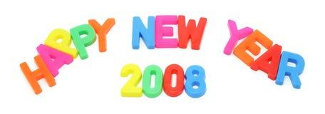 2008 lyckliga nya år Arkivfoto