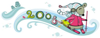 2008 mailman rat with skis Stock Image