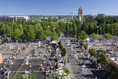 2008 mest hoopfest spokane washington Royaltyfri Foto