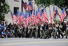2008 National Memorial Day Parade. Royalty Free Stock Image
