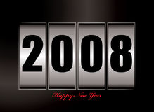 2008 new year. Illustration of 2008 image with new year text Stock Images