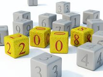 2008 New year. On bricks Stock Photography