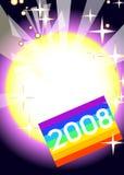 2008 nuovi anni felici Fotografia Stock Libera da Diritti