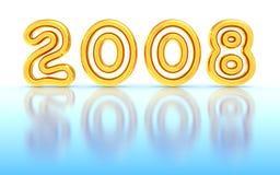 2008 nya år Arkivbild