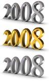 2008 nya symbolår Stock Illustrationer