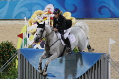2008 Olympic Equestrian A. Team Jumping Final - Round 01 & Individual Jumping 2nd Qualifier Stock Photo