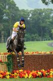 2008 Olympic Equestrian Events. Tosi Marcelo of Brazil participates in Eventing Cross-Country, Olympic Equestrian Events August 11, 2008 in Hong Kong, China ( Stock Image