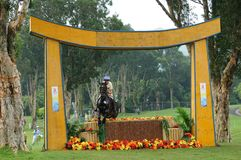 2008 Olympic Equestrian Events. Norling Katrin of Sweden participates in Eventing Cross-Country, Olympic Equestrian Events August 11, 2008 in Hong Kong, China ( Royalty Free Stock Photo