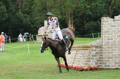 2008 Olympic Equestrian Events. Tristao Saulo of Brazil participates in Eventing Cross-Country, Olympic Equestrian Events August 11, 2008 in Hong Kong, China ( Royalty Free Stock Photos