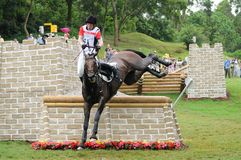 2008 Olympic Equestrian Events. Spolowicz Artur of Poland participates in Eventing Cross-Country, Olympic Equestrian Events August 11, 2008 in Hong Kong, China ( Royalty Free Stock Photo