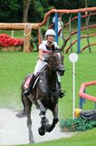 2008 Olympic Equestrian Events. Realini Tiziana of Switzerland participates in Eventing Cross-Country, Olympic Equestrian Events August 11, 2008 in Hong Kong Stock Photography