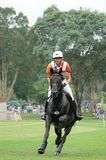 2008 Olympic Equestrian Events. Klimke Ingrid of Germany participates in Eventing Cross-Country, Olympic Equestrian Events August 11, 2008 in Hong Kong, China ( Stock Images