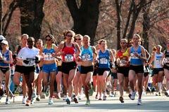 2008 olympische Marathon-Versuche der US-Frauen, Boston Lizenzfreies Stockfoto
