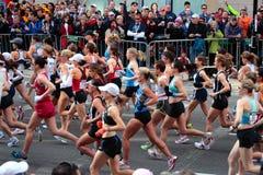 2008 olympische Marathon-Versuche der US-Frauen, Boston Stockfotos