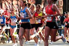 2008 olympische Marathon-Versuche der US-Frauen, Boston Stockbild