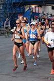 2008 olympische Marathon-Versuche der US-Frauen, Boston Stockfoto