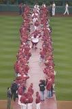 2008 OpeningsSpel van de Philadelphia Phillies Stock Afbeeldingen