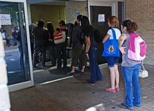 2008 Presidentiële de stemmingsdag van de V.S. lineup Royalty-vrije Stock Foto's