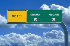 2008 Presidential Election Sign - Vote Stock Images