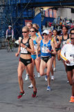 2008 Proeven van de Marathon van de Vrouwen van de V.S. de Olympische, Boston Stock Foto