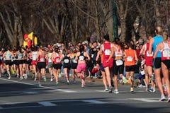 2008 prove olimpiche di maratona delle donne degli Stati Uniti, Boston Fotografia Stock Libera da Diritti