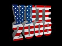 2008 röstar Arkivbild