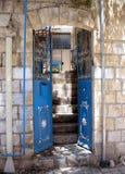 2008 safed gammalt för stadsingångshus Arkivbild